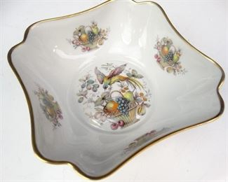 Limoges Bird of Paradise Gold Foil Bowl