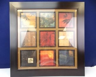 Large, Framed, Colorful MultiArt Squares