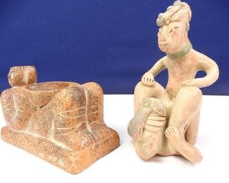 Rustic, Tribal Styled Clay Statuettes (2)