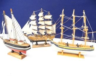 Small Wooden Ship Replicas