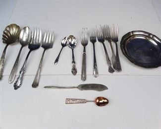 Assorted Silverplated _ Copper Utensils (13)