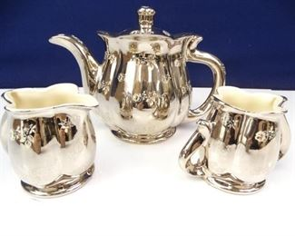 Pearl Platinum Rose China Tea Set