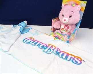 Rainbow Cheer New Care Bear w DVD and Blanket