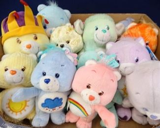 Small to Medium Sized Colorful Care Bear Dolls