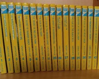 Collection of vintage Nancy Drew books