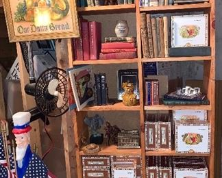 Looks of books- Cigar Boxes- Clock