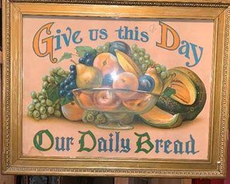 Antique Kitchen sign