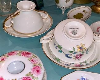Small collection of signed Teacups and saucers
