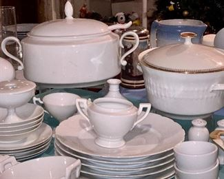 Limoges white dishes.  Used by an artist  to paint their own patterns