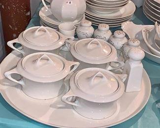 Artist white dishes