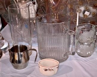 All here-Nestle's world cups; glass pitcher and martini mixer