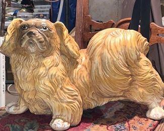 Adorable porcelain Dog -life-size