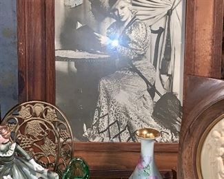 Large and framed picture of Mae West