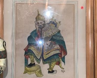 Hand-painted by Skokie artist; Large portraits of an Emperor  and Empress