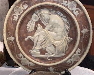 Alabaster plate