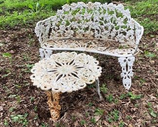 Lots of Plantation furniture in white cast iron