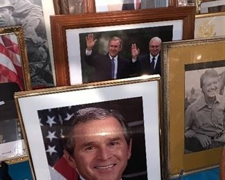 Political pictures-signed and framed