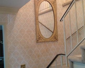 Matching Italian hand-painted mirror