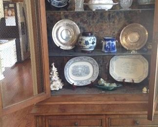 Antique Items in cabinet are Chinese and English