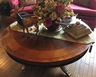 Inlayed coffee table, cherry