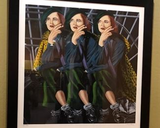 Large Pop Art Alexi Allens Serigraph -Waiting X 3 - Signed & Numbered Artist's Proof 24/50