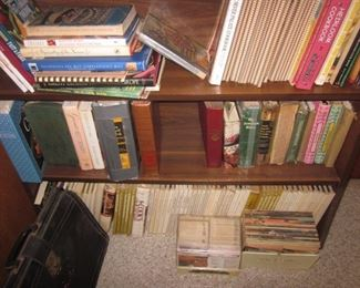 tons of books and albums