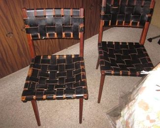 Leather Strapped Seating