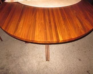 Walnut Mid-Century Table