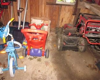 Man Cave Filled With Tools Generator Show Blower Craftsman Storm 2620 26 inch Tons of Tools Little Giant Ladders/Werner Ladders Tons of Gardening Tools