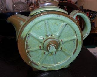 Frankoma pottery wagon wheel teapot