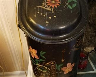 Antique Vintage coal bin