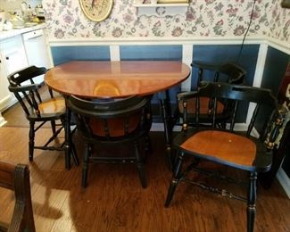 Antique vintage table and chairs