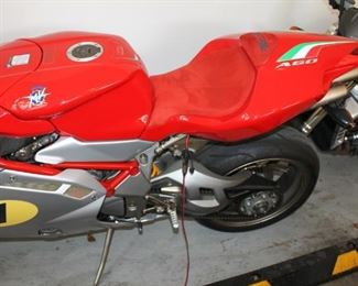 Rare signed Giacomo Agostini limited edition MX Agusta F4 AGO motorcycle w/ cover and jump suit
