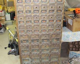 50 Door Antique Post Office Box