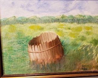 Oil Painting by Frank A. Barney. American Impressionist