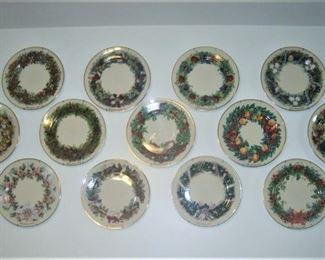 Lenox Christmas Plates, 1981 - 1993