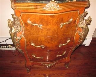 Ornate French Chest Marble Top