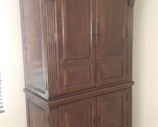 Nice armoire. Interior fitted as office.