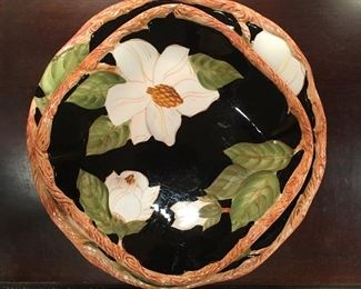 Magnolia charm bowl and salad plate