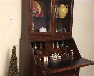 Alternate view of secretary bookcase
