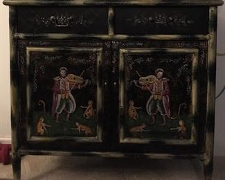 Hand painted cabinet - excellent condition