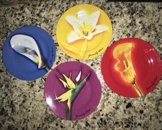 Givenchy Paris floral plates