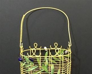 Painted iron basket