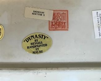 Maker's stamp and label