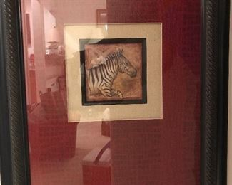 Terri Cook zebra lithograph