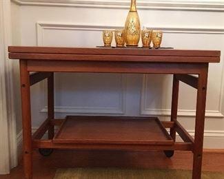 Mid-Century Modern tea table made in Copenhagen