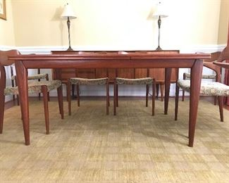 Mid-Century Modern dining table and chairs made in Copenhagen