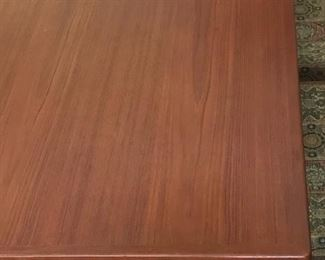 Top view of dining table