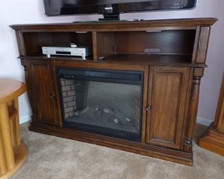 Available for presale-TV Stand with fireplace $240.00