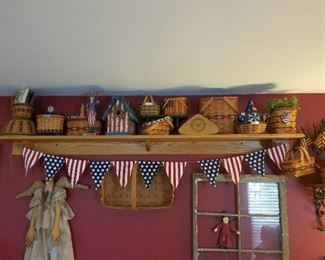Patriotic Longaberger baskets